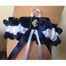 AFL Carlton Garter with Metal Logo Pin